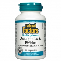 Natural Factors Acidophilus et Bifidus Double action  90 capsules