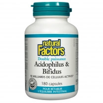 Natural Factors Acidophilus et Bifidus Double action  180 capsules