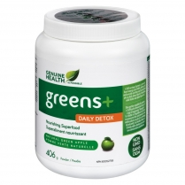 Genuine Health greens PLUS daily detox - Pomme  406 g