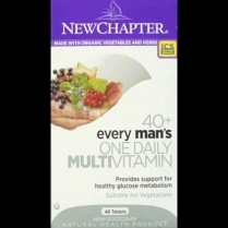 New Chapter Every Man's One Daily 40  Multivitamin  48 tablets