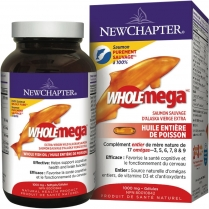 New Chapter Wholemega Whole Fish Oil 1000 mg  60 softgels
